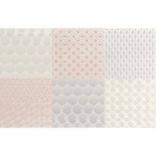 Декоративная плитка Aleluia Aline Decor Mix Bijou Nacar 27x42 см, толщина 7.7 мм