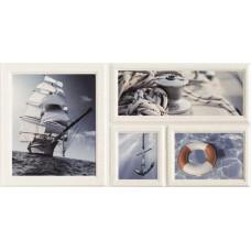 Декоративная плитка Arte Joy Wave Blue Str 1 22.3x44.8 см