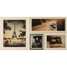 Декоративная плитка Arte Joy Wave Brown Str 1 22.3x44.8 см