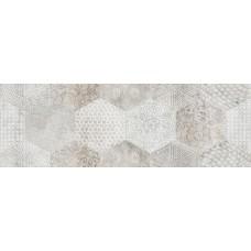 Декоративная плитка Aurelia Flou Decoro White Trama 20x60 см, толщина 8 мм