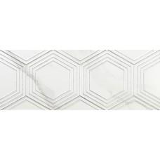 Декоративная плитка Azulev Calacatta Decor Hexa White Matt 25x65 см