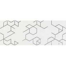 Декоративная плитка Azulev Clarity Decor Polygon Blanco 25x65 см