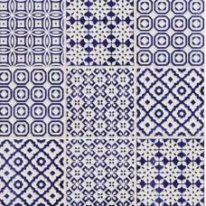 Декоративная плитка BayKer Batik Deco Cobalto 10x10 см, толщина 7 мм