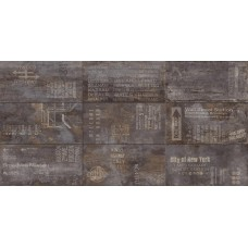 Декоративная плитка EnergieKer Flatiron Decor Black 61.5x121 см, толщина 9 мм