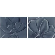 Декоративная плитка Epoca Le Vernis Form Fleurs A B Blue Satin 20x25.1 см