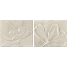 Декоративная плитка Epoca Le Vernis Form Fleurs A B Pearl 20x25.1 см