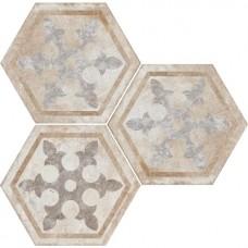 Декоративная плитка Fioranese Heritage Deco Esagona Texture 1 34.5x40 см, толщина 9 мм