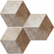 Декоративная плитка Fioranese Heritage Deco Esagona Texture 2 34.5x40 см, толщина 9 мм