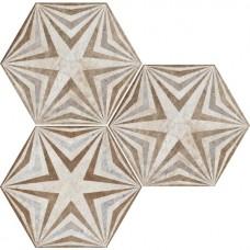 Декоративная плитка Fioranese Heritage Deco Exagona Texture 3 34.5x40 см, толщина 9 мм