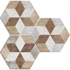 Декоративная плитка Fioranese Heritage Deco Exagona Texture 4 34.5x40 см, толщина 9 мм