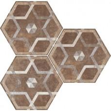 Декоративная плитка Fioranese Heritage Deco Exagona Texture 5 34.5x40 см, толщина 9 мм