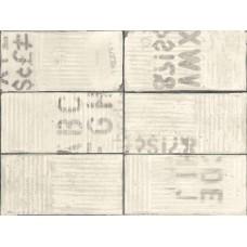 Декоративная плитка Fioranese Urban Avenue Graffiti Off White 7.5x40.8 см, толщина 9.5 мм