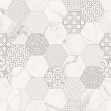 Декоративная плитка Fondovalle Infinito White Hexagon Matte 120x120 см, толщина 6.5 мм