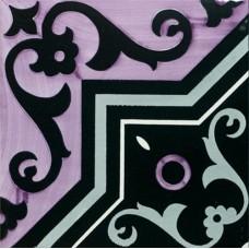 Декоративная плитка Francesco De Maio Fiori Scuri Iaconti Nero Lilla Grigio 20x20 см, толщина 10 мм