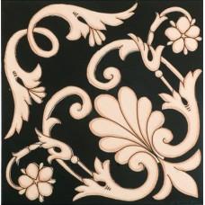 Декоративная плитка Francesco De Maio Fiori Scuri Ieranto Nero Avana 20x20 см, толщина 10 мм