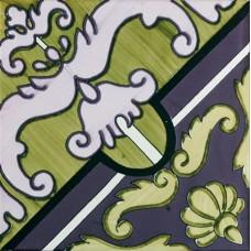 Декоративная плитка Francesco De Maio Fiori Scuri Pastena Verde Marcio Prugna 20x20 см, толщина 10 мм