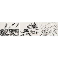 Декоративная плитка Iris Aura Dec. Jet Glossy 10x30 см, толщина 7 мм