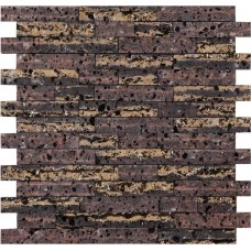 мозаика LAntic Colonial Mosaics Elite Lava Stone Brick Gold 30.3x32 см, толщина 14 мм