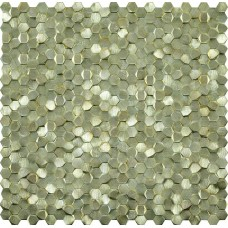 мозаика LAntic Colonial Mosaics Gravity Aluminium 3D Hexagon Gold 30.4x31 см, толщина 3 мм