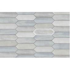 Декоративная плитка Mirage Reve Tissue Blanc 7.5x28 см, толщина 9 мм