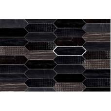 Декоративная плитка Mirage Reve Tissue Noir 7.5x28 см, толщина 9 мм