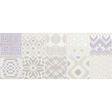 Декоративная плитка Novabell Milady Preinciso Patchwork White Lilac 25x60 см, толщина 10 мм