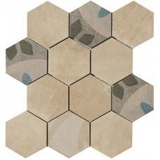 Декоративная плитка Pastorelli Shade Carpet Esagona Sabbia 30x30 см, толщина 8.5 мм