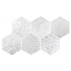 Декоративная плитка Quintessenza Alchimia Ars Mix 1 Bianco Grigio 26.6x23 см, толщина 10 мм