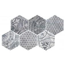 Декоративная плитка Quintessenza Alchimia Ars Mix 2 Bianco Nero 26.6x23 см, толщина 10 мм