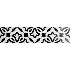 Декоративная плитка Quintessenza Genesi26 Antracite Lucido Deco 4 6.5x26.6 см, толщина 10 мм