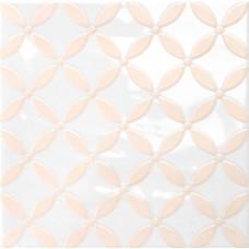 Декоративная плитка Quintessenza Genesi26 Bianco Lucido Deco 1 13.2x13.2 см, толщина 10 мм