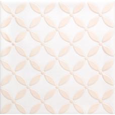 Декоративная плитка Quintessenza Genesi26 Bianco Matt Deco 1 13.2x13.2 см, толщина 10 мм