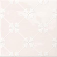 Декоративная плитка Quintessenza Genesi26 Cipria Lucido Deco 2 13.2x13.2 см, толщина 10 мм