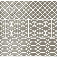 Декоративная плитка Ragno Brick Glossy Decoro Antracite 10x30 см, толщина 8.5 мм