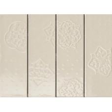 Декоративная плитка Ragno Brick Glossy Decoro Grey 10x30 см, толщина 8.5 мм
