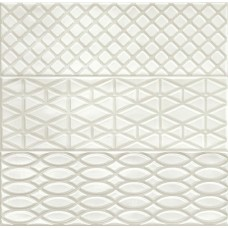 Декоративная плитка Ragno Brick Glossy Decoro Grey 2 10x30 см, толщина 8.5 мм