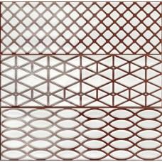 Декоративная плитка Ragno Brick Glossy Decoro Purple 10x30 см, толщина 8.5 мм