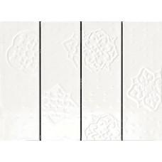Декоративная плитка Ragno Brick Glossy Decoro White 10x30 см, толщина 8.5 мм