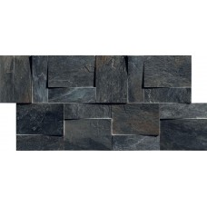 Декоративная плитка Rex Ardoise Modulo Muretto 3d Noir 30x30 см, толщина 6 мм