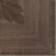 Декоративная плитка Roberto Cavalli Rinascimento Floreale Mogano Nat. Rett. Firma 50x50 см, толщина 10.5 мм