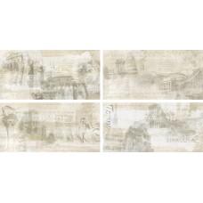 Декоративная плитка Rondine Icon Decor Almond History Mix4 30x60 см, толщина 9.5 мм