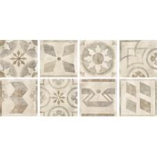 Декоративная плитка Rondine Icon Folc Almond 60x60 см, толщина 10 мм