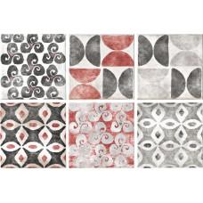 Декоративная плитка Serenissima Cotto Vogue Formella Texture S 6 Grigio 20x20 см, толщина 11 мм