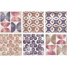Декоративная плитка Serenissima Cotto Vogue Formella Texture S 6 Viola 20x20 см, толщина 11 мм