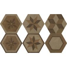 Декоративная плитка Settecento Gea Essagona Decoro Colori Caldi 40.9x47.2 см, толщина 10 мм