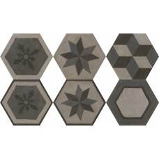 Декоративная плитка Settecento Gea Essagona Decoro Colori Freddi 40.9x47.2 см, толщина 10 мм
