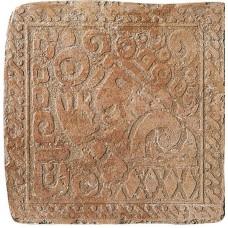 Декоративная плитка Settecento Maya Azteca Inserto Yucatan A Granato 32.7x32.7 см, толщина 10 мм