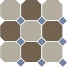 Декоративная плитка TopCer Octagon Beige Coffe Brown Blue Cobalt 30x30 см, толщина 8 мм