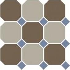 Декоративная плитка TopCer Octagon Coffe Brown Beige Blue Cobalt 30x30 см, толщина 8 мм