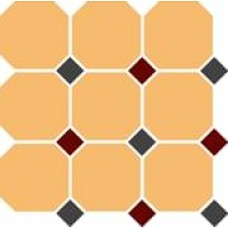 Декоративная плитка TopCer Octagon Ochre Yellow Black Brick-Red 30x30 см, толщина 8 мм